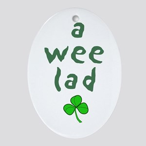a wee lad Oval Ornament