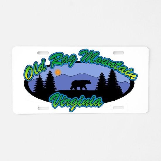 OLD RAG Aluminum License Plate