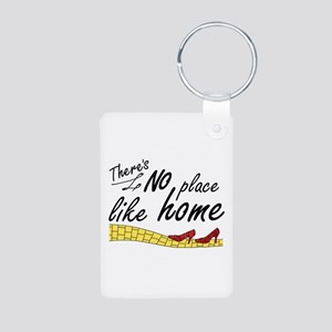 'No Place Like Home' Aluminum Photo Keychain