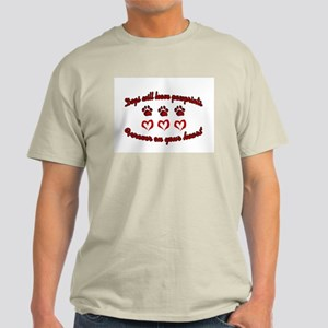 Dogs Leave Pawprints Men's Light T-Shirt