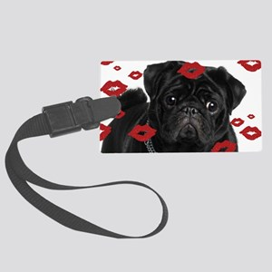 Pugs and Kisses 5x7 Large Luggage Tag