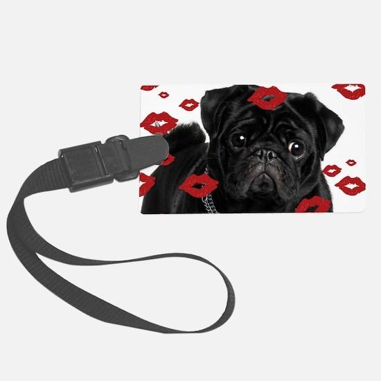 Pugs and Kisses 5x7 Luggage Tag