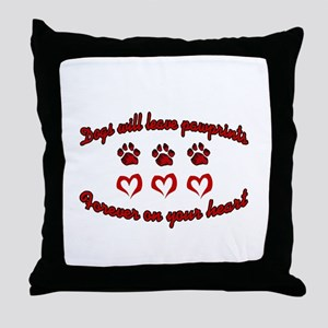 Dogs Leave Pawprints Throw Pillow