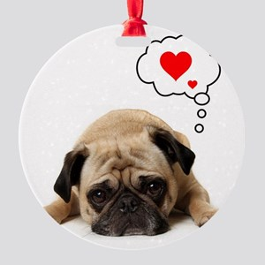 Valentine 5x7 Round Ornament