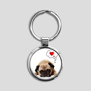 Valentine 5x7 Round Keychain
