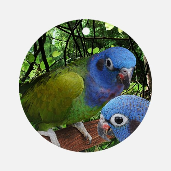 2bluepionus Round Ornament