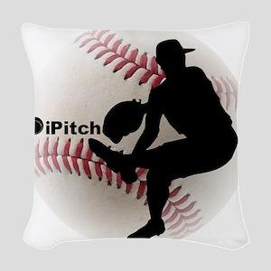 iPitch Baseball Woven Throw Pillow