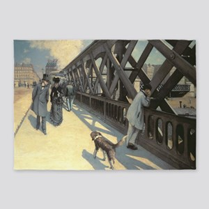 Pont de LEurope by Gustave Caillebo 5'x7'Area Rug