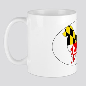Maryland State Flag Golden Retriever St Mug