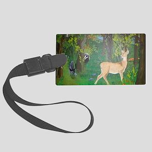 Woodland Animals Large Luggage Tag