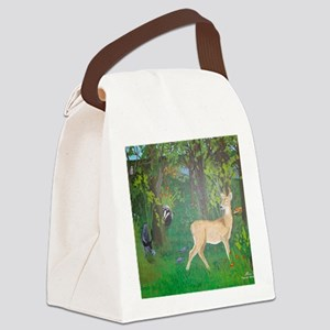 Woodland Animals Canvas Lunch Bag