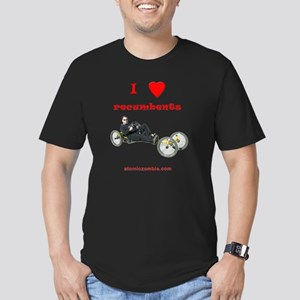 I love recumbents on d Men's Fitted T-Shirt (dark)