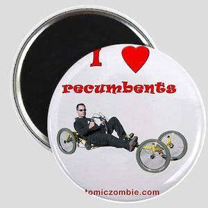 I love recumbents on dark shirts Magnet