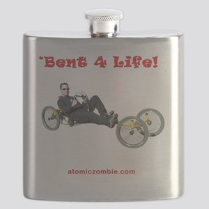 Bent 4 Life on dark shirts Flask