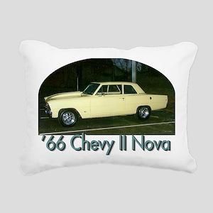 66 Chevy Rectangular Canvas Pillow