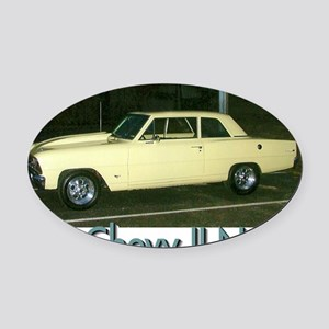 66 Chevy Oval Car Magnet