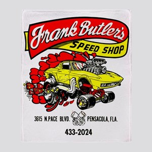 FrankButlersSpeedShop Throw Blanket