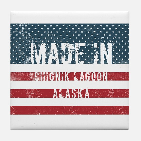 Made in Chignik Lagoon, Alaska Tile Coaster