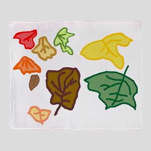 Connors autumn leaves age 3 tr Throw Blanket