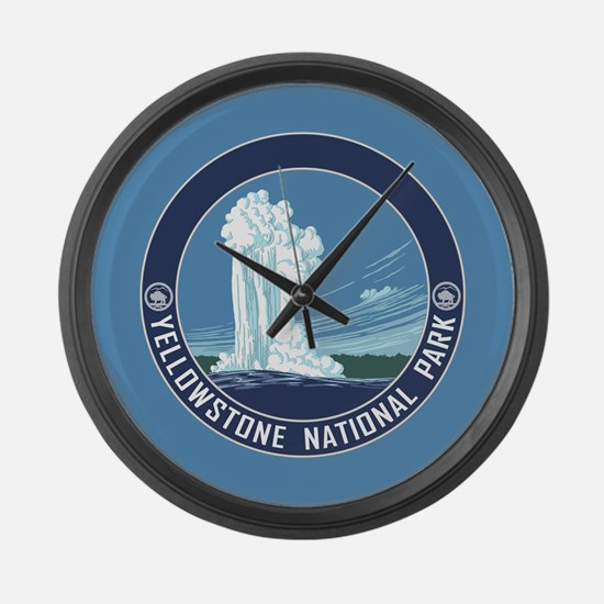 Yellowstone Travel Souvenir Large Wall Clock