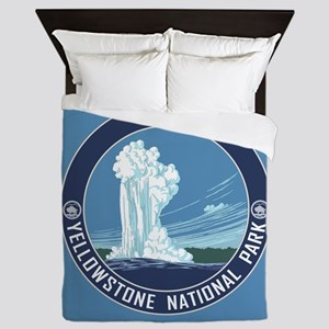 Yellowstone Travel Souvenir Queen Duvet
