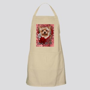 Valentine_Red_Rose_Yorkie Apron