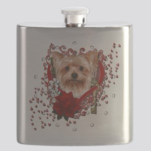 Valentine_Red_Rose_Yorkie Flask