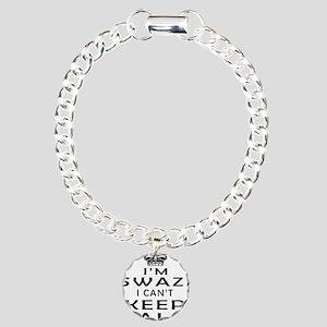 I Am Swazi I Can Not Keep Calm Charm Bracelet, One