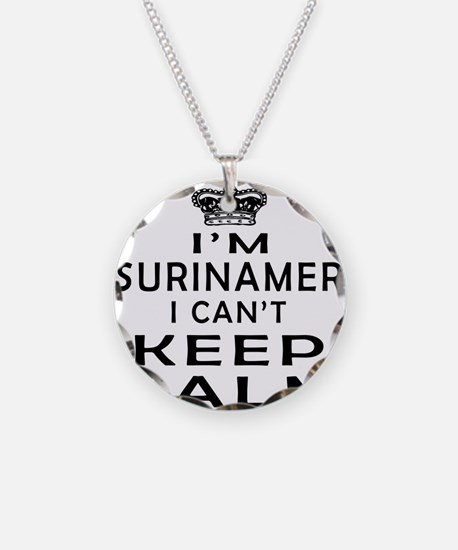 I Am Surinamer I Can Not Keep Calm Necklace