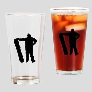 Snowboarder Drinking Glass