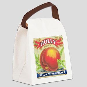 HOLLY PEACHES Canvas Lunch Bag