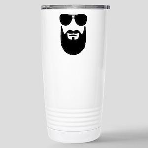 Full beard sunglasses Stainless Steel Travel Mug