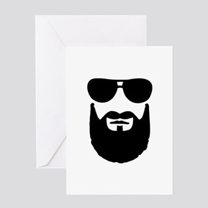 Full beard sunglasses Greeting Card