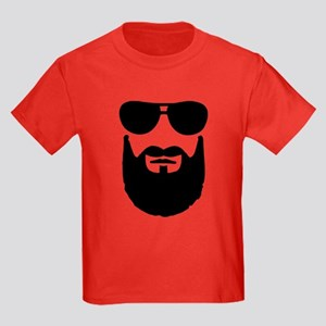 Full beard sunglasses Kids Dark T-Shirt