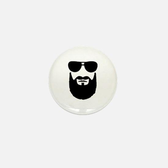 Full beard sunglasses Mini Button
