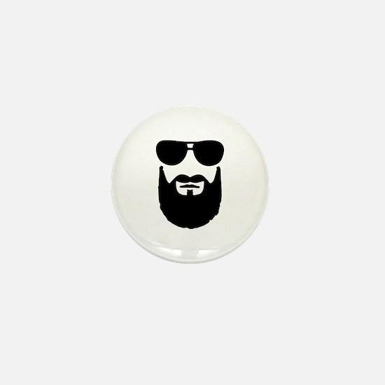 Full beard sunglasses Mini Button (10 pack)