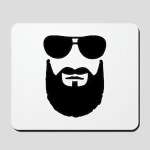 Full beard sunglasses Mousepad