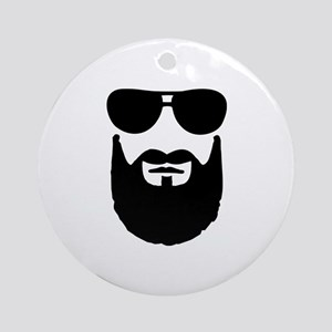 Full beard sunglasses Ornament (Round)