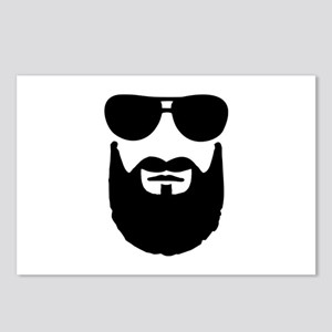 Full beard sunglasses Postcards (Package of 8)