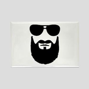 Full beard sunglasses Rectangle Magnet