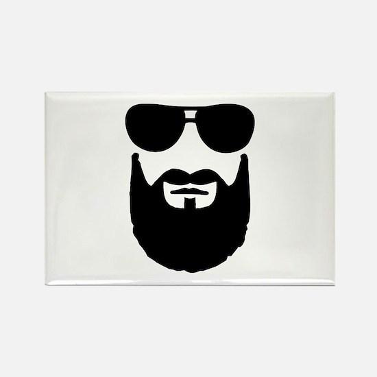Full beard sunglasses Rectangle Magnet (10 pack)