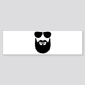 Full beard sunglasses Sticker (Bumper)