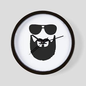 Full beard sunglasses Wall Clock