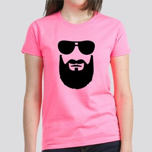 Full beard sunglasses Women's Dark T-Shirt