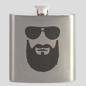 Full beard sunglasses Flask