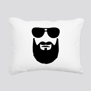 Full beard sunglasses Rectangular Canvas Pillow