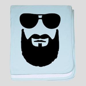 Full beard sunglasses baby blanket