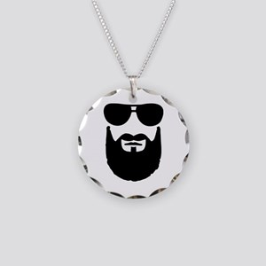 Full beard sunglasses Necklace Circle Charm
