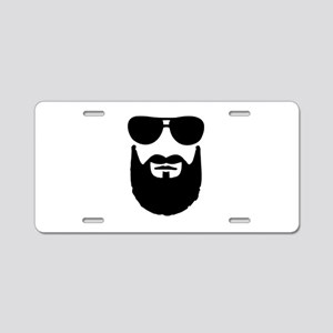 Full beard sunglasses Aluminum License Plate