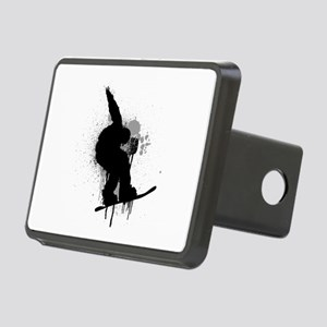 Snowboarder Rectangular Hitch Cover